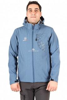 Купить оптом ветровка мужская синего цвета 01502S в интернет магазине MTFORCE.RU
