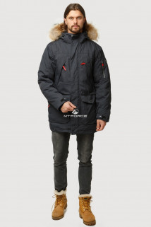 Купить оптом куртка классическая зимняя черного цвета 15040Ch в интернет магазине MTFORCE.RU