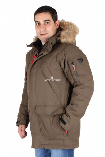 Купить оптом куртка классическая зимняя мужская  цвета хаки 15040Kh в интернет магазине MTFORCE.RU