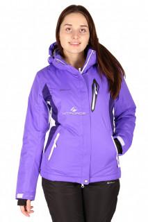 Купить оптом куртка горнолыжная женская фиолетового цвета 150400F в интернет магазине MTFORCE.RU