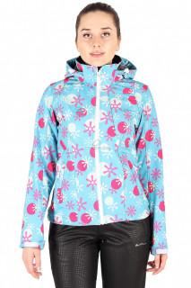 Купить оптом ветровка женская голубого цвета 1514Gl в интернет магазине MTFORCE.RU