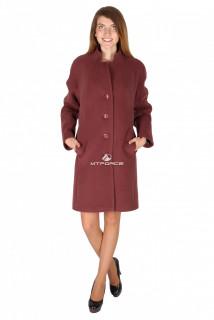 Купить оптом пальто женское каричневого цвета 15193K в интернет магазине MTFORCE.RU