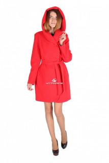 Купить оптом пальто женское красного цвета 15224Kr в интернет магазине MTFORCE.RU