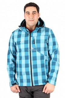 Купить оптом ветровка мужская бирюзового цвета 015220Br в интернет магазине MTFORCE.RU