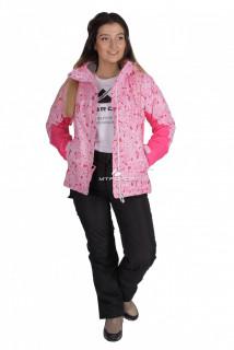 Купить оптом костюм горнолыжный женский розового цвета 01525R в интернет магазине MTFORCE.RU