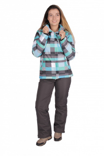 Купить оптом костюм горнолыжный женский бирюзового цвета 01784Br в интернет магазине MTFORCE.RU
