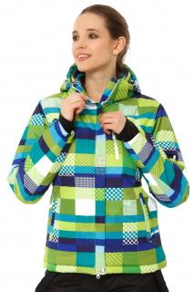 Купить оптом куртка горнолыжная женская желтого цвета 1784J в интернет магазине MTFORCE.RU