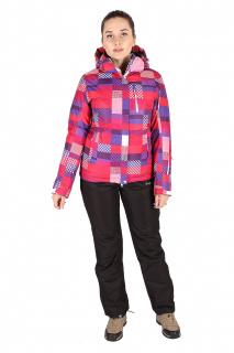 Купить оптом костюм горнолыжный женский розового цвета 01784R в интернет магазине MTFORCE.RU
