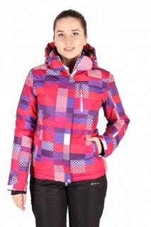 Купить оптом куртка горнолыжная женская розового цвета 1784R в интернет магазине MTFORCE.RU