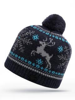 Купить оптом шапку черного цвета в интернет магазине MTFORCE 6018Ch