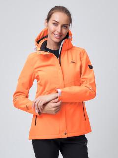 Женский осенний весенний костюм спортивный softshell оранжевого цвета купить оптом в интернет магазине MTFORCE 02038O
