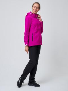 Женский осенний весенний костюм спортивный softshell фиолетового цвета купить оптом в интернет магазине MTFORCE 02038-1F