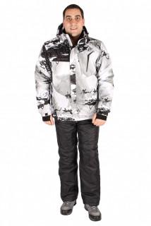 Купить оптом костюм горнолыжный мужской серого цвета 01550Sr в интернет магазине MTFORCE.RU
