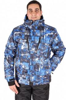 Купить оптом куртка горнолыжная мужская синего цвета 1551S в интернет магазине MTFORCE.RU