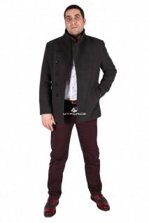 Купить оптом полупальто мужское серого цвета 1573Sr в интернет магазине MTFORCE.RU