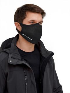 Купить оптом маску многоразовую трикотажную черную в интернет магазине MTFORCE 2010Ch