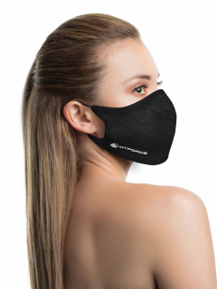 Купить оптом маску многоразовую трикотажную черную в интернет магазине MTFORCE 15842Ch