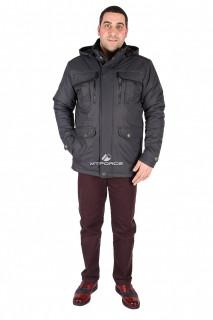 Купить оптом куртка классическая мужская темно-синего цвета 1602TS в интернет магазине MTFORCE.RU