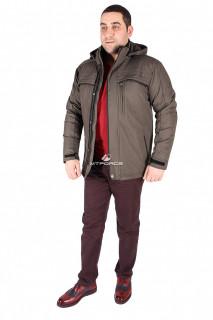 Купить оптом куртка классическая мужская цвета хаки 1603Kh в интернет магазине MTFORCE.RU
