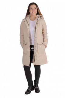 Интернет магазин MTFORCE.ru предлагает купить оптом куртка парка демисезонная женская ПИСК сезона бежевого цвета 16099B по выгодной и доступной цене с доставкой по всей России и СНГ