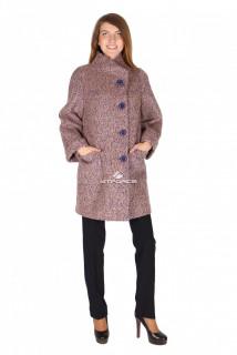 Купить оптом пальто женское коричневого цвета 16257K в интернет магазине MTFORCE.RU