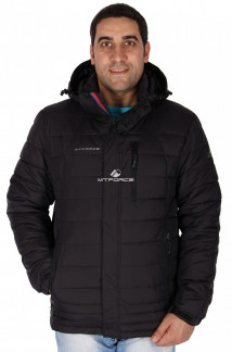 Купить оптом куртка мужская черного цвета 1626Ch в интернет магазине MTFORCE.RU
