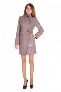 Купить оптом пальто женское фиолетового цвета 16269F в интернет магазине MTFORCE.RU