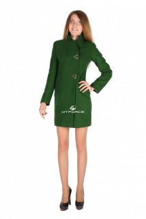 Купить оптом пальто женское темно-зеленого цвета 16269TZ в интернет магазине MTFORCE.RU