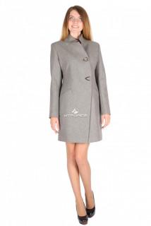 Купить оптом пальто женское серого цвета 16269Sr в интернет магазине MTFORCE.RU