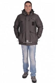 Купить оптом куртка зимняя мужская темно-серого цвета 1629TC в интернет магазине MTFORCE.RU