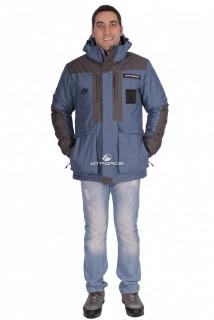 Купить оптом куртка зимняя мужская синего цвета 1629S в интернет магазине MTFORCE.RU