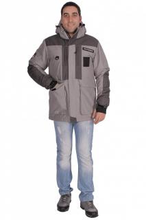 Купить оптом куртка зимняя мужская серого цвета 1629Sr в интернет магазине MTFORCE.RU