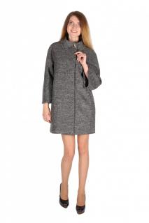 Купить оптом полупальто женское темно-серого цвета 16301TC в интернет магазине MTFORCE.RU