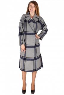 Купить оптом пальто женское темно-синего цвета 16304TS в интернет магазине MTFORCE.RU