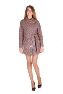 Купить оптом полупальто женское коричневого цвета 16309К в интернет магазине MTFORCE.RU