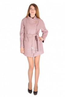Купить оптом полупальто женское розового цвета 16309R в интернет магазине MTFORCE.RU