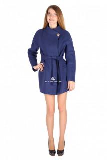 Купить оптом полупальто женское темно-синего цвета 16309TS в интернет магазине MTFORCE.RU
