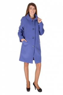 Купить оптом пальто женское голубого цвета 16318Gl в интернет магазине MTFORCE.RU