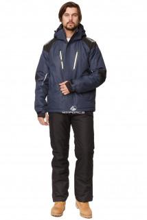 Купить оптом костюм горнолыжный мужской темно-синего цвета 01652TS в интернет магазине MTFORCE.RU