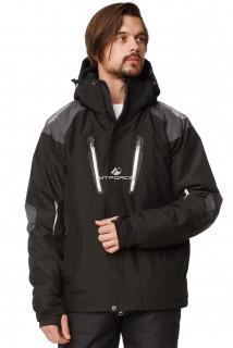 Купить оптом куртка горнолыжная мужская черного цвета 1652Ch в интернет магазине MTFORCE.RU