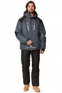 Купить оптом костюм горнолыжный мужской темно-серого цвета 01652TC в интернет магазине MTFORCE.RU