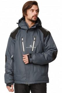 Купить оптом куртка горнолыжная мужская темно-серого цвета 1652TС в интернет магазине MTFORCE.RU