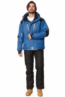 Купить оптом костюм горнолыжный мужской синего цвета 01652S в интернет магазине MTFORCE.RU