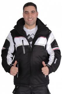 Купить оптом куртка горнолыжная мужская черного цвета 1655Ch в интернет магазине MTFORCE.RU