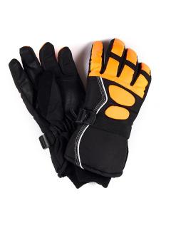 Спортивные перчатки мужские зимние оранжевого цвета купить оптом в интернет магазине MTFORCE 1662O