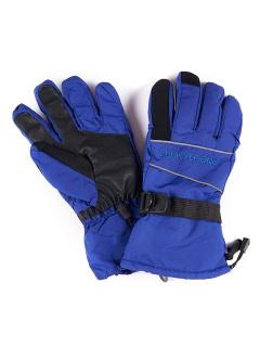 Спортивные перчатки мужские зимние синего цвета купить оптом в интернет магазине MTFORCE 1663S
