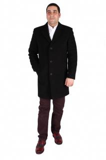 Купить оптом пальто мужское черного цвета 16Ch в интернет магазине MTFORCE.RU