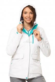 Купить оптом куртку демисезонную женскую белого цвета 1703Bl в интернет магазине MTFORCE.RU