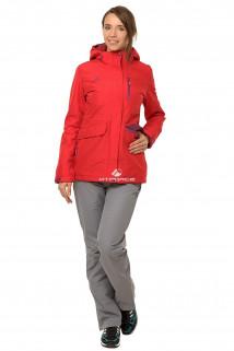 Купить оптом костюм демисезонный женский красного цвета 01703Kr в интернет магазине MTFORCE.RU