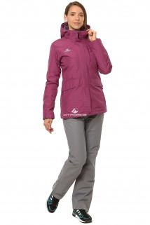 Купить оптом костюм демисезонный женский фиолетового цвета 01703F в интернет магазине MTFORCE.RU